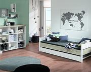 Paidi Kira Pokój młodzieżowy lite drewno (łóżko dwuosobowe wysuwane 200x90 ze stelażem standard + regał) KURIER GRATIS