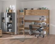 Paidi Sten Pokój ucznia lite drewno (jednoosobowe łóżko 200x90 na antresoli ze stelażem standard+ biurko + regał) KURIER GRATIS