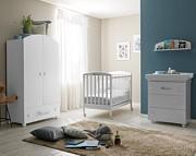 Pali Leo Pokój dziecięcy (łóżeczko 124x64 cm + komoda kąpielowa+ szafa 2-drzwiowa) kolor Grigio / Kurier Gratis