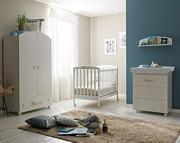Pali Leo Pokój dziecięcy (łóżeczko 124x64 cm + komoda kąpielowa+ szafa 2-drzwiowa) kolor Tortora / Kurier Gratis