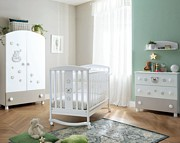 Pali Little Royal B Pokój dziecięcy (łóżeczko 124x64 cm + komoda 3 szuflady + szafa 2 drzwiowa) Boutique line / Kurier Gratis