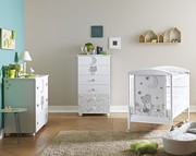 Pali Moon Pokój dziecięcy (łóżeczko 124x64 cm + komoda z szufladami + komoda wysoka) / Kurier Gratis