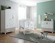 Pali Royal B Pokój dziecięcy (łóżeczko 124x64 cm + komoda 3 szuflady + szafa 2-drzwiowa) Boutique line / Kurier Gratis