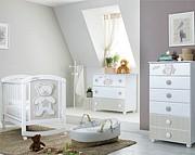 Pali Teddy B Pokój dziecięcy (łóżeczko 124x64 cm + komoda 3 szuflady + komoda wysoka) Boutique line / Kurier Gratis