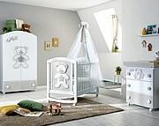 Pali Teddy B Pokój dziecięcy (łóżeczko 124x64 cm + komoda kąpielowa+ szafa 2-drzwiowa) Boutique line / Kurier Gratis