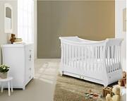 Pali Tulip Bianco pokój dziecięcy (łóżeczko 124x64 cm + komoda z szufladami) / Kurier Gratis