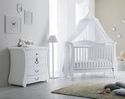 Pali Tulip Bianco pokój dziecięcy (łóżeczko-sofa + komoda z szufladami) / Kurier Gratis
