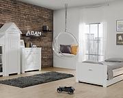 Pinio Marsylia (łóżko Blanco 200x90z szufladą + szafa 1-drzwiowa + komoda) / KURIER GRATIS! 15% taniej do 30 kwietnia.