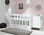 Pinio Moon pokój dziecięcy (łóżeczko 140x70 z szufladą + komoda mała 2 szuflady). 15% taniej do 30 kwietnia.