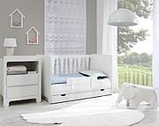 Pinio Moon pokój niemowlęcy (łóżeczko 120x60 z szufladą + komoda mała). 15% taniej do 30 kwietnia.