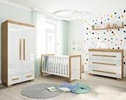 Pinio Oakie pokój (łóżeczko 140x70 cm + komoda 3 szuflady + szafa 2 drzwiowa). KURIER GRATIS 15% taniej do 30 kwietnia.