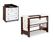 Klupś Safari Żyrafka/Little Giraffe pokój dziecięcy (łóżeczko 120x60+komoda) biel/orzech.