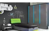 Timoore Beep Pokój dla nastolatka (tapczanik 200x90 + komoda 3 szuflady + szafa 2 drzwiowa) / KURIER GRATIS