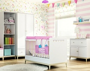 Timoore Elle pokój dziecięcy (łóżeczko120x60 + komoda dwudrzwiowa + szafa dwudrzwiowa) / KURIER GRATIS