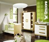 Timoore First Pokój dzieciecy (łóżeczko 120x60 + 2 drzwiowa szafa + 3 szufladowa komoda) / Komoda z ekspozycji  / KURIER GRATIS