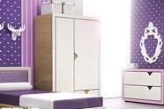 Timoore Frame DESIGN pokój młodzieżowy (łóżko 200x90 + szafa dwudrzwiowa + komoda wysoka) / KURIER GRATIS