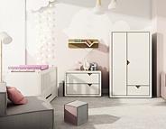 Timoore Frame Natural pokój dziec (łóżeczko/tapczanik Simple 140x70 + szuflada + komoda wysoka + szafa 2 drzw) / KURIER GRATIS