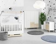 Timoore Magi Pokój dziecięcy (łóżeczko/tapczanik 140x70 + 2 drzwiowa komoda + 3 drzwiowa szafa) / KURIER GRATIS