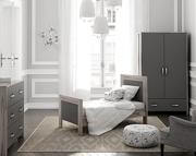 Timoore Manhattan pokój dziecięcy (łóżeczko-tapczanik 140x70 + komoda + szafa) kolor popielaty / KURIER GRATIS