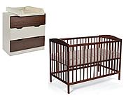 Tomi V pokój dziecięcy (łóżeczko 120x60 orzech + komoda 3 szuflady kolor biały orzech) / KURIER GRATIS PRZY PRZEDPŁACIE