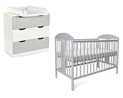 Tomi XX Miś pokój dziecięcy (łóżeczko 120x60 + komoda 3 szuflady) szary / KURIER GRATIS PRZY PRZEDPŁACIE
