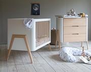 Troll Torsten pokój dziecięcy (łóżeczko 120x60 + komoda + przewijak) kolor biały/natural wax / Kurier gratis przy przedpłacie