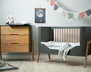 Troll Torsten pokój dziecięcy (łóżeczko 120x60 + komoda + przewijak) / kolor seal grey/teak / Kurier gratis przy przedpłacie