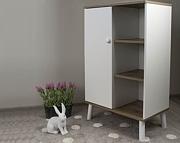 Drewex Basilio szafka-regał /dąb surowy / biały.