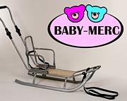 Baby Merc sanki Winter Frenzy z oparciem i regulowanym pchaczem