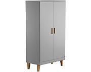 Baby Vox Lounge szafa 2 drzwiowa z litego drewna / kolor grafit / Kurier gratis przy przedpłacie