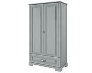 Bellamy Ines Tall Szafa 2 drzwiowa z szufladą / kolor szary / Kurier gratis przy przedpłacie