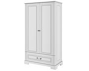 Bellamy Ines Tall szafa 2 drzwiowa z szufladą / kolor biały / Kurier gratis przy przedpłacie