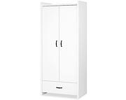 LittleSky by Klupś Amelia szafa 2 drzwiowa z szufladą / kolor biały.