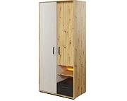 Lenart Qubic szafa 2 drzwiowa z szufladą i oświetleniem QB-03