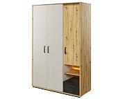 Lenart Qubic szafa 3 drzwiowa z szufladą i oświetleniem QB-02