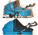 Kees - Folia przeciwdeszczowa oraz moskitiera uniwersalna na wózek głęboki