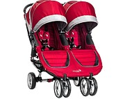 PROMOCJA!! Baby Jogger City Mini Double (bliźniak) 2016 kol. Crimson Gray GRATIS KURIER