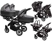 BabyActive Trippy Premium dla trojaczków 3w1 (stelaż + 3 x spacerówka + 3 x gondola + 3x fotelik) 2019 GRATIS KURIER