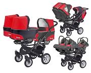 BabyActive Trippy wózek dla trojaczków 3w1 (stelaż + 3 x spacerówka + 3 x gondola + 3 x fotelik) 2019 GRATIS KURIER