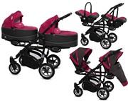 BabyActive Twinni Premium 3w1 (2x spacerówka + 2x gondola + 2x fotelik) 2019 KURIER GRATIS