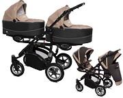 BabyActive Twinni Premium 2w1 (2x spacerówka + 2x gondola)