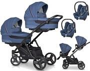 EasyGo 2 Of US wózek bliźniaczy 3w1 ( 2x spacerówka + 2x gondola + 2x fotelik Cabrio ) 2021 KURIER GRATIS