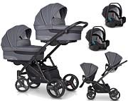 EasyGo 2 Of US wózek bliźniaczy 3w1 ( 2x spacerówka + 2x gondola + 2x fotelik Starter Plus + adapter ) 2021 KURIER GRATIS