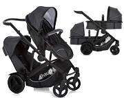 Hauck Duett 3 wózek dla rodzeństwa 2w1 (stelaż + siedzisko górne/gondola + siedzisko dolne + gondola) 2020 / KURIER GRATIS