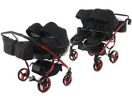 Junama Diamond Individual Duo wózek dla bliźniąt 2w1 (stelaż + 2x spacerówka + 2x gondola) 2020 / KURIER GRATIS