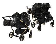 Junama Glow Duo wózek dla bliźniąt 2w1 (stelaż + 2x spacerówka + 2x gondola) 2021 KURIER GRATIS
