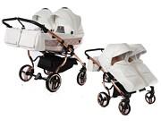 Junama Mirror Satin Duo wózek dla bliźniąt 2w1 (stelaż + 2x spacerówka + 2x gondola) 2021 KURIER GRATIS