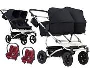 3w1 Mountain Buggy Duet 3 (stelaż+ 2x siedzisko spacerowe+ 2x gondola plus+ 2x fot Maxi Cosi Cabrio ) 2018 KURIER GRATIS