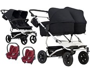 PROMOCJA Mountain Buggy Duet 3 3w1 (stelaż+ 2x siedz spacerowe + 2x gondola plus + 2x Maxi Cosi Cabrio) KURIER GRATIS