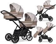 Riko Team wózek dla bliźniąt 2w1 ( 2x spacerówka + 2x gondola ) 2021 KURIER GRATIS